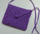 Aristocrat purple metallic purse