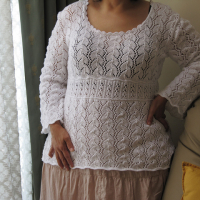 CraftyMadWomans White Tunic Ravelry-1