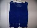 christines blue vest