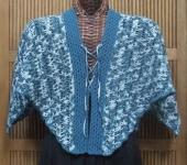 sol blue var shawl front