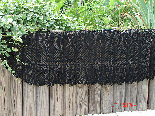 pennys black lace shawl estilo