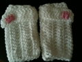 Bevs fingerless mits in Escarcha