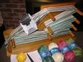 Inkle loom warped with sinfonia