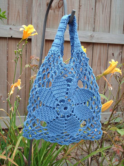 Rosimorales Blue Flower Sinfonia Bag