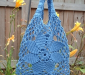 Rosimorales Blue Flower Sinfonia Bag