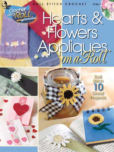 Hearts & Flowers Appliques on a Roll 6.95 drg