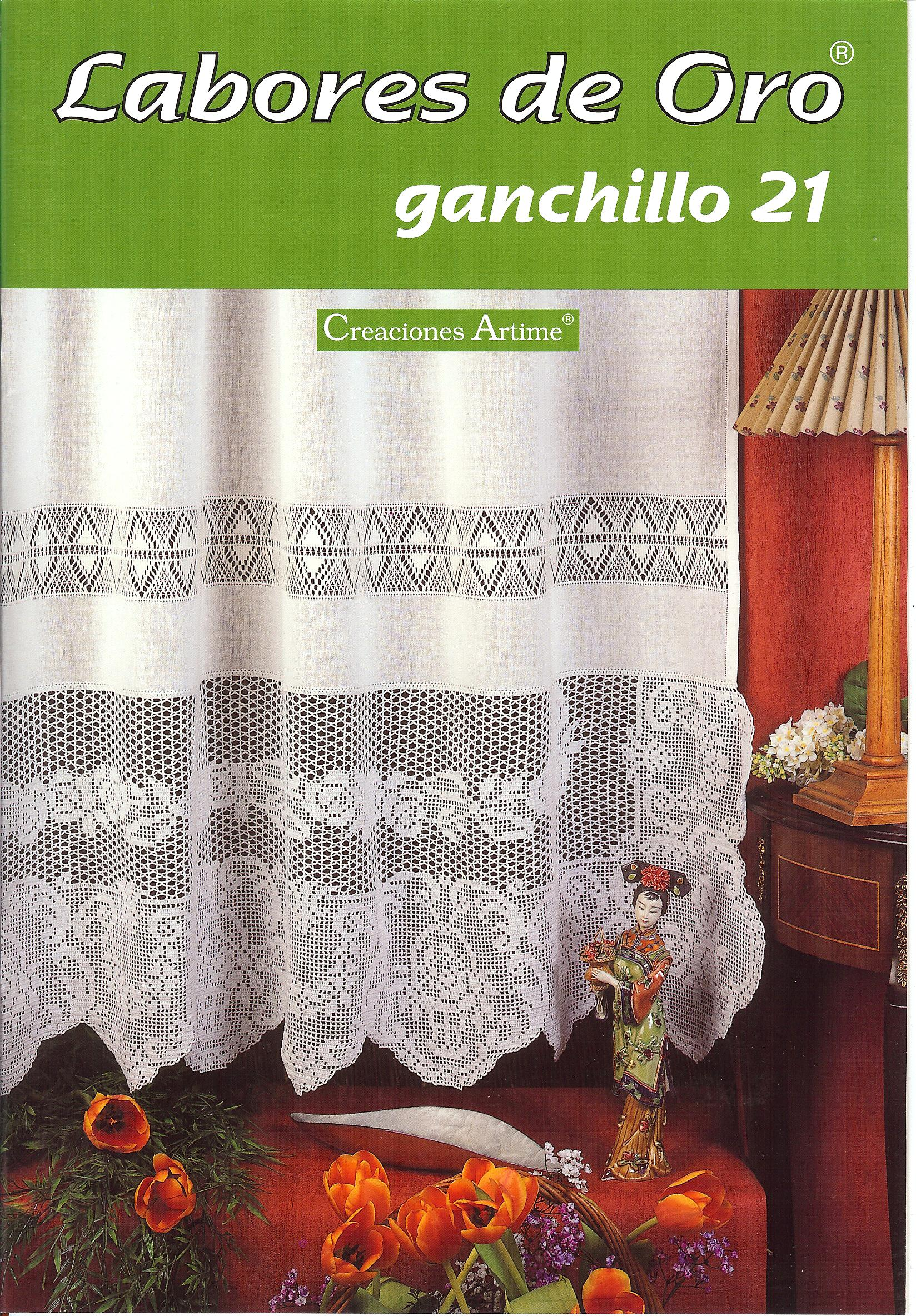 Labores de oro ganchillo cortinas 1 11 90 curtains it737 for Cortinas de ganchillo