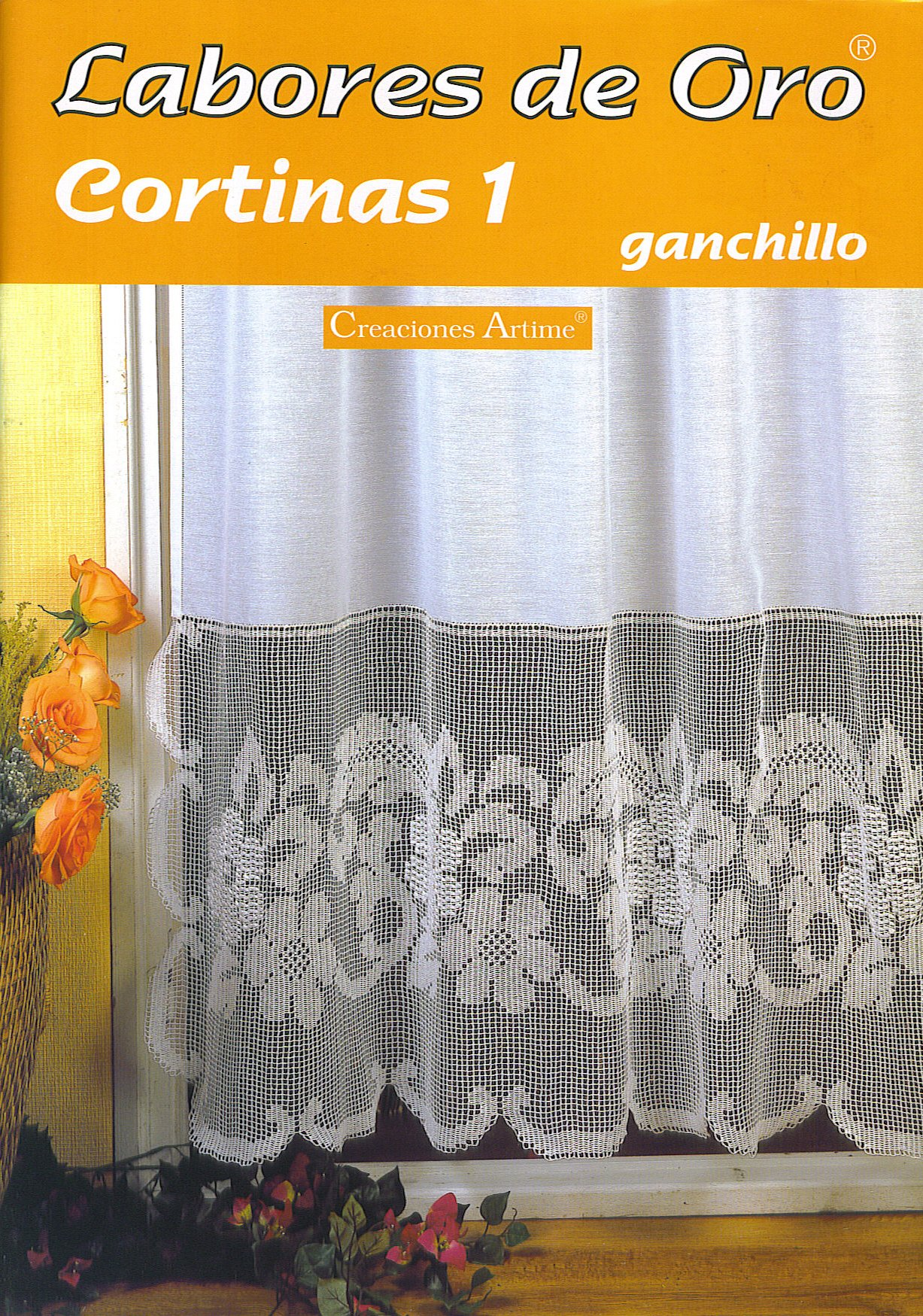 Pin labores oro ganchillo cortinas curtains pictures on for Cortinas de ganchillo